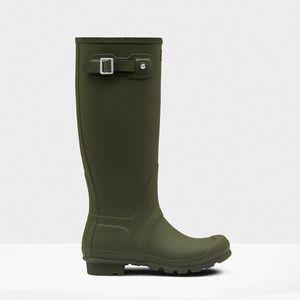 Hunter Original Tall Rain Boots - Dark Olive